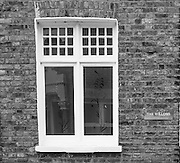 Chiswick. Greater London. Engraved Glass Window and frame - Chiswick Mall and embankment  Leading from Chiswick to Fulham Reach RC. Sunday.  24.07.2016  [Mandatory Credit: Peter Spurrier/Intersport-images.com]