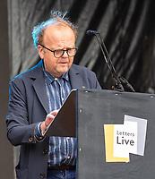 Toby Jones letters live  at the  Wilderness Festival Cornbury Park Oxfordshire,photo by Mark Anton Smith