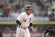 CHICAGO - APRIL 06:  Conor Gillaspie #12 of the Chicago White Sox runs toward third base with a triple in the fifth inning against the Seattle Mariners on April 06, 2013 at U.S. Cellular Field in Chicago, Illinois.  The White Sox defeated the Mariners 4-3.  (Photo by Ron Vesely)   Subject:  Conor Gillaspie