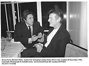 Bryan Ferry, Michael Palin.  Vanity Fair Swinging London Party. River Cafe. London.20 November 1996.<br />Copyright Photograph by Dafydd Jones<br />66 Stockwell Park Rd. London SW9 0DA<br />Tel. 0171 733 0108
