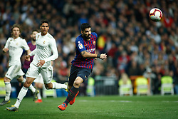 March 2, 2019 - Madrid, MADRID, SPAIN - Luis Suarez of FC Barcelona during the spanish league, La Liga, football match played between Real Madrid and FC Barcelona at Santiago Bernabeu Stadium in Madrid, Spain, on March 02, 2019. (Credit Image: © AFP7 via ZUMA Wire)
