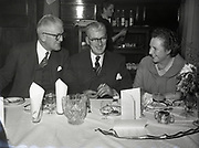 Dinner at Ormond Hotel 11-12-1958