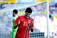 Fotball , 31. Mai 2014, Privatlandskamp <br /> Norge - Russland <br /> Tarik Elyounoussi reagerer på at en halvsjanse ikke ble noe av<br /> Foto: Sjur Stølen , Digitalsport