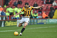 Ben Purkiss of Port Vale crosses ball  during the Sky Bet League 1 match between Sheffield Utd and Port Vale at Bramall Lane, Sheffield, England on 20 February 2016. Photo by Ian Lyall.