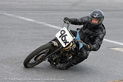 Dan Rose on his Indian racer in the Sons of Speed Vintage Motorcycle Races at New Smyrina Speedway. New Smyrna Beach, USA. Saturday, March 9, 2019. Photography ©2019 Michael Lichter.