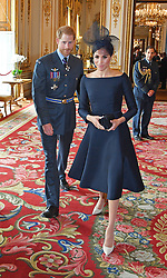 The Duke and Duchess of Sussex attend a reception at Buckingham Palace, London, to mark the centenary of the Royal Air Force.