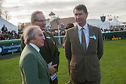 JACKIE STEWART; ROBERT WALEY-COHEN; TIM LAURENCE, Hennessy Gold Cup, The Racecourse Newbury. 30 November 2013.