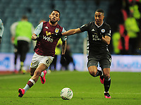 Football - 2019 / 2020 EFL Carabao (League) Cup - Semi-Final, Second Leg: Aston Villa (1) vs. Leicester City (1)<br /> <br /> Douglas Luiz of Villa and Youri Tielemans of Leicester, at Villa Park.<br /> <br /> COLORSPORT/ANDREW COWIE