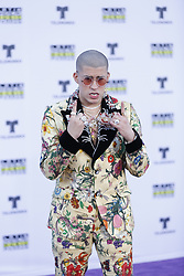 HOLLYWOOD, CA - OCTOBER 26: Bad Bunny attends the Telemundo's Latin American Music Awards 2017 held at Dolby Theatre on October 26, 2017. Byline, credit, TV usage, web usage or linkback must read SILVEXPHOTO.COM. Failure to byline correctly will incur double the agreed fee. Tel: +1 714 504 6870.
