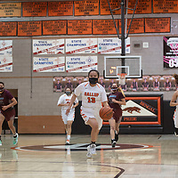 Gallup Bengal Cheyenne John (13) drives to the basket on a fast break during their varsity basketball game against the Shiprock Chieftains at Gallup High School in Gallup Friday.