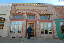 05 February 2015. Monroeville, Alabama.<br /> On the trail of Harper Lee's 'To Kill a Mocking Bird.'<br /> The unmarked offices of Harper Lee attorney Tonja Carter at the center of the old town. <br /> Photo; Charlie Varley/varleypix.com