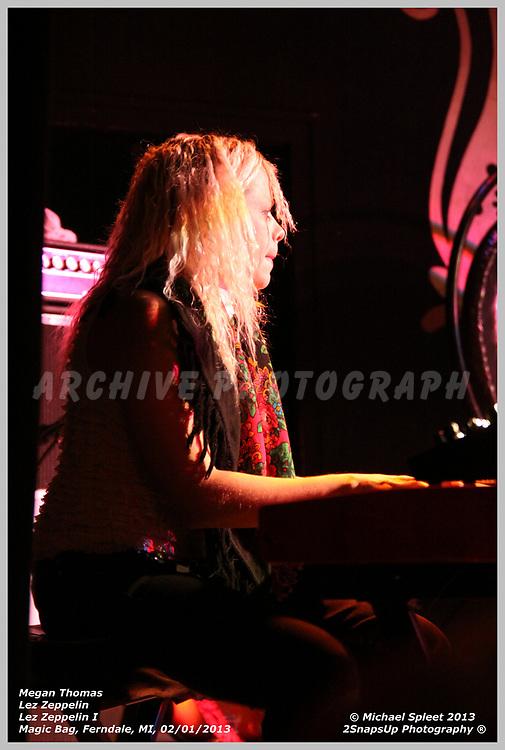 FERNDALE, MI, SATURDAY, FEB. 02, 2013: Lez Zeppelin, Led Zeppelin I Megan Thomas at Magic Bag, Ferndale, MI, 02/02/2013.  (Image Credit: Michael Spleet / 2SnapsUp Photography)