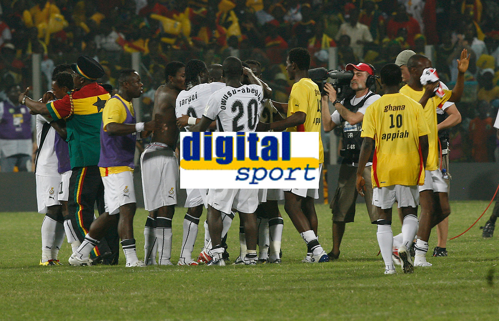 Photo: Steve Bond/Richard Lane Photography.<br />Ghana v Guinea. Africa Cup of Nations. 20/01/2008. Ghana celebrate their late win