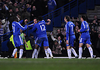 Photo: Tony Oudot/Sportsbeat Images.<br /> Chelsea v Liverpool. Carling Cup, Quarter Final. 19/12/2007.<br /> Frank Lampard of Chelsea celebrates his goal with teammates
