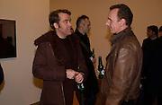 Lars Arrhenius and Hans Op de Beeck, Rijksakademie exhibition, Victoria Miro Gallery, London. 11 January 2003. © Copyright Photograph by Dafydd Jones 66 Stockwell Park Rd. London SW9 0DA Tel 020 7733 0108 www.dafjones.com