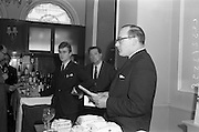 18/04/1963<br /> 04/18/1963<br /> 18 April 1963<br /> Friends of the Wine Club group inaugurated at the House of Morgan, 36 Dawson Street, Dublin. Picture shows M John Morgan, Chairman of the House of Morgan speaking at the reception.