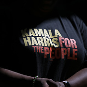 COLUMBIA, SC - JUNE 21: Supporters of Senator Kamala Harris arrive for a meet and greet at an historic home in Columbia, SC on June, 21 2019. Many of the Democratic candidates running for president are in Columbia to make appearances at the South Carolina Democratic Party Convention and the Planned Parenthood Election Forum on June 22.(Logan Cyrus for AFP)