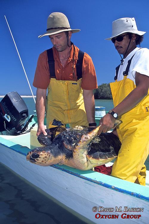 J. & Rodrigo W/ Loggerhead Turtle