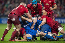 December 30, 2018 - Limerick, Ireland - CJ Stander of Munster with the ball tackled by Scott Fardy of Leinster during the Guinness PRO14 match between Munster Rugby and Leinster Rugby at Thomond Park in Limerick, Ireland on December 29, 2018  (Credit Image: © Andrew Surma/NurPhoto via ZUMA Press)