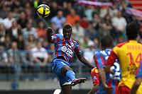 FOOTBALL - FRENCH CHAMPIONSHIP 2010/2011 - L1 - SM CAEN v RC LENS - 7/05/2011 - PHOTO ERIC BRETAGNON / DPPI -  M BAYE NIANG (CAEN)