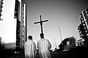 religiuous procession in Naples suburb