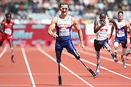 Richard Whitehead GBR in the T42 sets a new world record in 23.03 during the Muller Anniversary Games at the Stadium, Queen Elizabeth Olympic Park, London, United Kingdom on 23 July 2016. Photo by Phil Duncan.
