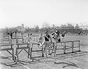 """Knudsen. L. H. S. High hurdle. Eugene Portland meet"""