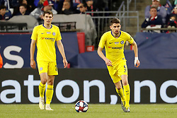 May 15, 2019 - Foxborough, MA, U.S. - FOXBOROUGH, MA - MAY 15: Chelsea FC midfielder Jorginho (5) looks up field during the Final Whistle on Hate match between the New England Revolution and Chelsea Football Club on May 15, 2019, at Gillette Stadium in Foxborough, Massachusetts. (Photo by Fred Kfoury III/Icon Sportswire) (Credit Image: © Fred Kfoury Iii/Icon SMI via ZUMA Press)