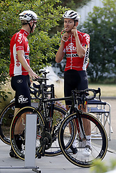 July 4, 2018 - Mouilleron Le Captif, France - MOUILLERON-LE-CAPTIF, FRANCE - JULY 4 : BENOOT Tiesj  (BEL)  of Lotto Soudal during a team reconnaissance of stage 1 prior the 105th edition of the 2018 Tour de France cycling race, a stage of 201 kms between Noirmoutier-en-l'Ile and Mouilleron-Le-Captif on July 04, 2018 in Mouilleron-Le-Captif, France, 4/07/18 ( Motordriver Kenny Verfaillie - Photo by Jan De Meuleneir / Photonews. (Credit Image: © Panoramic via ZUMA Press)