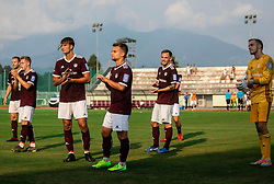 Tin Karamatić of Triglav, Gašper Udovič of Triglav, Jalen Arko of Triglav look dejected after the football match between NK Triglav and NK Celje in 7th Round of Prva liga Telekom Slovenije 2019/20, on August 25, 2019 in Sports park, Kranj, Slovenia. Photo by Vid Ponikvar / Sportida