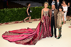 Blake Lively, Christian Louboutin and guest attending the Metropolitan Museum of Art Costume Institute Benefit Gala 2018 in New York, USA.
