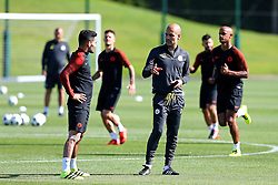 Manchester City manager Josep Guardiola talks with Ilkay Gundogan - Mandatory by-line: Matt McNulty/JMP - 23/08/2016 - FOOTBALL - Manchester City - Training session ahead of Champions League qualifier against Steaua Bucharest