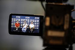 May 4, 2018 - Germany - Motorsports: DTM race Hockenheimring, Saison 2018 - 1. Event Hockenheimring, GER, #4 Robin Frijns ( NED, Audi Sport Team Abt ), Philipp Eng ( AUT, BMW Team RBM ), Daniel Juncadella ( ESP, Mercedes HWA AG  (Credit Image: © Hoch Zwei via ZUMA Wire)