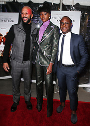 December 4, 2018 - Hollywood, California, United States - HOLLYWOOD, LOS ANGELES, CA, USA - DECEMBER 04: Actor/Rapper Common, actress KiKi Layne and director Barry Jenkins arrive at the Los Angeles Special Screening Of Annapurna Pictures' 'If Beale Street Could Talk' held at ArcLight Hollywood on December 4, 2018 in Hollywood, Los Angeles, California, United States. (Credit Image: © face to face via ZUMA Press)