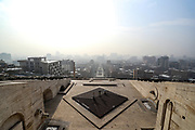 An overview of Yerevan from Cascade on Thursday, Jan 14, 2021. Cascade is a giant stairway made of limestone in Yerevan, Armenia. The Cascade links the downtown Kentron area of Yerevan with the Monument neighbourhood. Designed by architects Jim Torosyan, Aslan Mkhitaryan, and Sargis Gurzadyan the construction of the cascade started in 1971 and was partially completed in 1980. (Photo/ Vudi Xhymshiti)