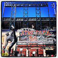 iPhone Instagram of AT&T Park in San Francisco, California on May 25, 2014