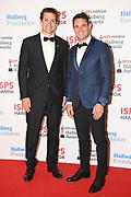 ISPS Handa Ambassadors Richie McCaw (L) and Dan Carter on the red carpet, ISPS Handa Halberg Awards Decade Champion held at Spark Arena, Auckland. Wednesday 24 March 2021. Mandatory Photo Credit: Andrew Cornaga / www.photosport.nz
