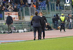 October 31, 2017 - Rome, Italy - Antonio Conte and Eusebio Di Francesco during the Champions League football match A.S. Roma vs Chelsea Football Club at the Olympic Stadium in Rome, on october 31, 2017. (Credit Image: © Silvia Lore/NurPhoto via ZUMA Press)