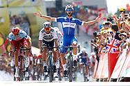 Fernando Gaviria (COL - QuickStep - Floors) - Peter Sagan (SVK - Bora - Hansgrohe) - Marcel Kittel (GER - Team Katusha - Alpecin) during the Tour de France 2018, Stage 1, Noirmoutier -en-l'île - Fontenay-le-Comte (201km) on July 7th, 2018 - Photo Luca Bettini / BettiniPhoto / ProSportsImages / DPPI