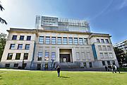 Belgie, Brussel, 14-5-2019 Achter het gebouw van het Europees parlement aan de rue Belliard en Place Luxembourg in de europese wijk ligt het huis van de europese geschiedenis . House of european history.Foto: Flip Franssen