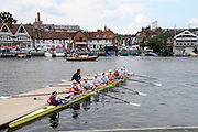 Henley, Great Britain.  Henley Royal Regatta. Leander Club and Gloucester Rowing Club, together with Coach Nick Strange, boating, prior to the Final of the Remenham Challenge Cup. River Thames,  Henley Reach.  Royal Regatta. River Thames Henley Reach. Sunday  11:46:42  03/07/2011  [Mandatory Credit/Intersport Images] . HRR