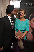 DR. HARPAL KUMAR; HAYAT PALUMBO, The Foreign Sisters lunch sponsored by Avakian in aid of Cancer Research UK. The Dorchester. 15 May 2012