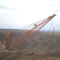 A Navajo Transitional Energy Company crane works on Navajo Mine in Shiprock Thursday.