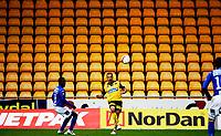 Fotball<br /> Tippeligaen<br /> Lillestrøm LSK - Molde MFK<br /> Åråsen Stadion 25.09.10<br /> Khaled Mouelhi foran tom tribune seksjon <br /> Foto: Eirik Førde