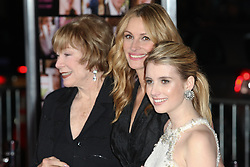 8 February 2010: Shirley Maclaine, Julia Roberts, and Emma Roberts (L-R) attend the Valentine's Day premiere on February 8th 2010 at Graumans Chinese Theatre in Hollywood, California. (Credit Image: Brandon Parry/SCG/ZUMAPRESS.com)
