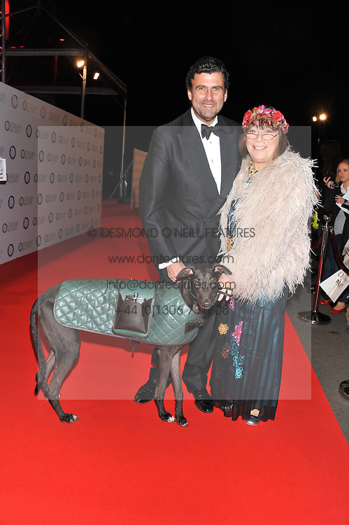 TREVOR PICKETT and HILARY ALEXANDER and Willow the dog at the Battersea Dogs & Cats Home Collars & Coats Gala Ball held at Battersea Evolution, Battersea Park, London SW8 on 8th November 2012.
