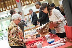 """18 September 2017, Geneva, Switzerland: A """"marketplace"""" at the Ecumenical Centre in Geneva presents resources and activities of the World Council of Churches, at it hosts a meeting of member churches' Ecumenical Officers."""