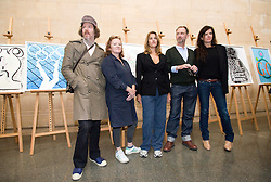 © London News Pictures. 04/11/2011. London, UK. L to R Martin Creed, Rachel Whiteread, Tracey Emin, Gary Hume and Fiona Banner  at the unveiling of the official Olympic and Paralympic posters for the London 2012 games by some of the UK's leading artists at The Tate Britain Gallery in London, UK today (04/11/2011). Photo Credit : Ben Cawthra/LNP