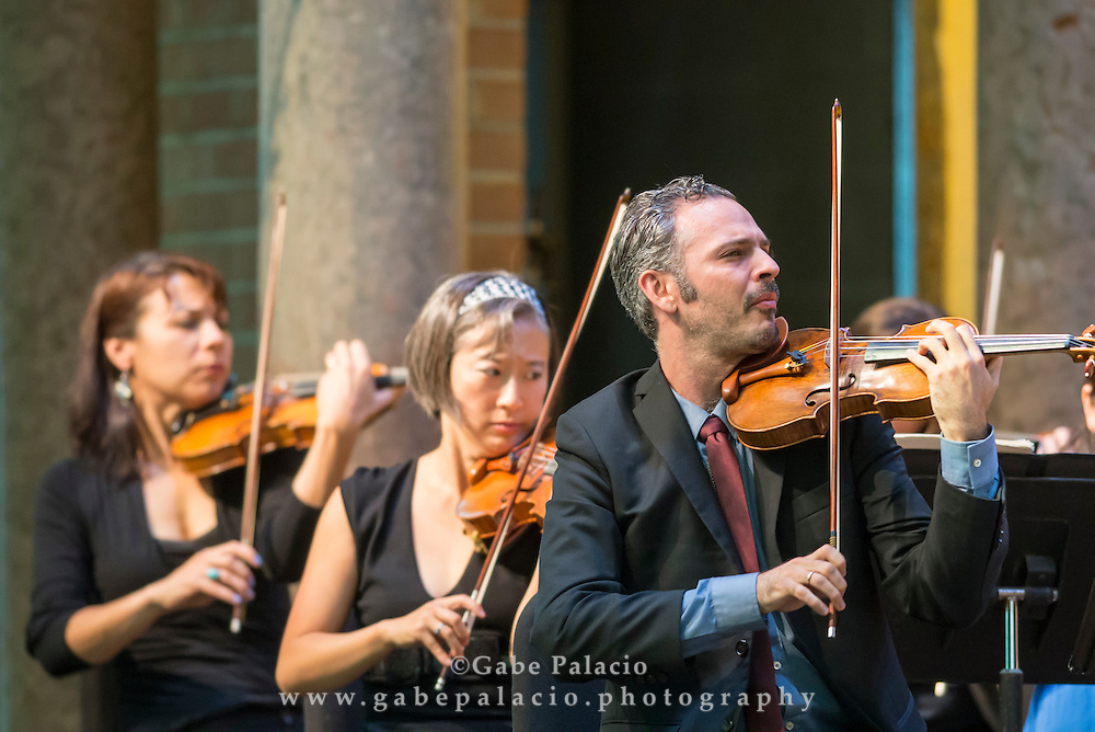 The Knights with special guest Gil Shaham, violin, perform in the Venetian Theater at Caramoor in Katonah New York on September 21, 2014. <br /> (photo by Gabe Palacio)