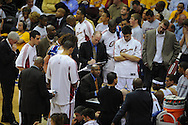 The Washington Wizards defeated the Cleveland Cavaliers 88-87 in Game 5 of the First Round of the NBA Playoffs, April 30, 2008 at Quicken Loans Arena in Cleveland.<br /> Head coach Mike Brown during a timeout.